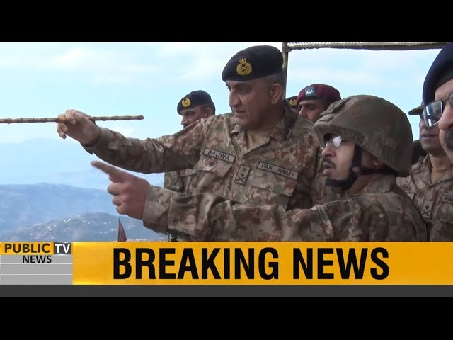 General Qamar Javed Bajwa, Chief of Army Staff (COAS) visited LOC at Chirikot and Bagsar Sectors