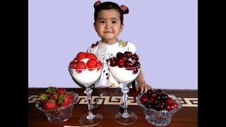 Готовим необычный Десерт Клубника и Черешня с мороженым#Dessert Strawberry and Cherry with ice cream