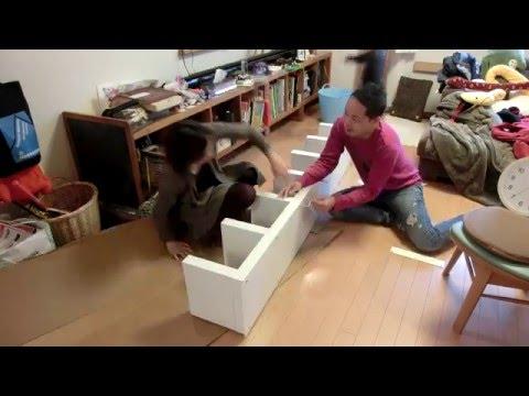 IKEAのLACKを組み立てるタイムラプス