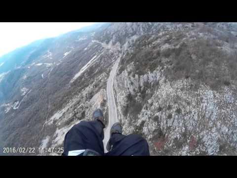 Paragliding in Budva, Montenegro 2016.02.22