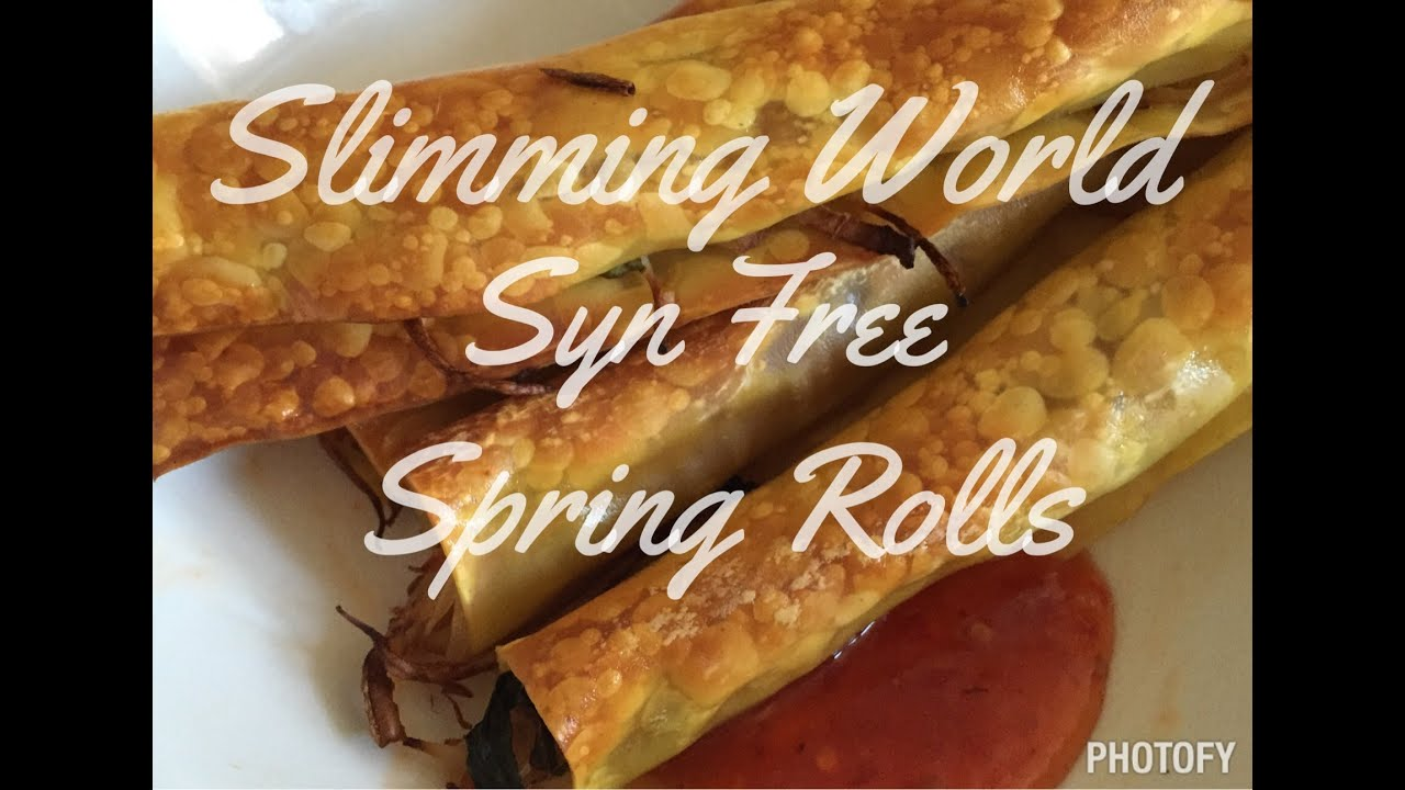 Slimming World Recipes Syn Free Chinese Spring Rolls