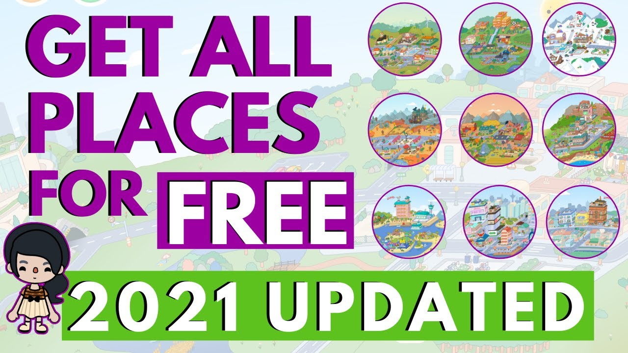 HOW TO GET ALL PLACES IN TOCA LIFE WORLD FOR FREE!!! 9 UPDATED