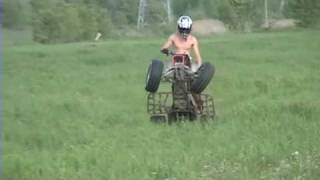 REAL atv wheelies