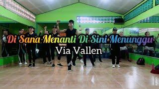 Download lagu Via Vallen - Di Sana Menanti Di Sini Menunggu ( Sungguh Ku Merasa Resah) | ZUMBA | DANGDUT | FITNESS