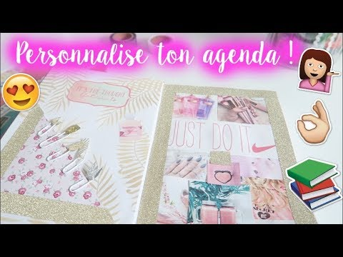 diy personnaliser son agenda 2017 2018 back to school youtube. Black Bedroom Furniture Sets. Home Design Ideas