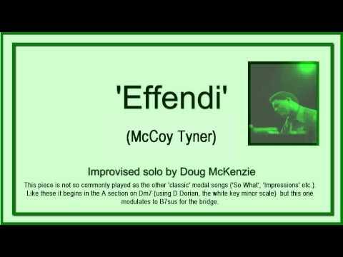 Effendi (McCoy Tyner) - jazz piano tutorial