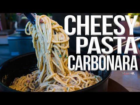 Easy Cheesy Pasta Carbonara Recipe | SAM THE COOKING GUY 4K