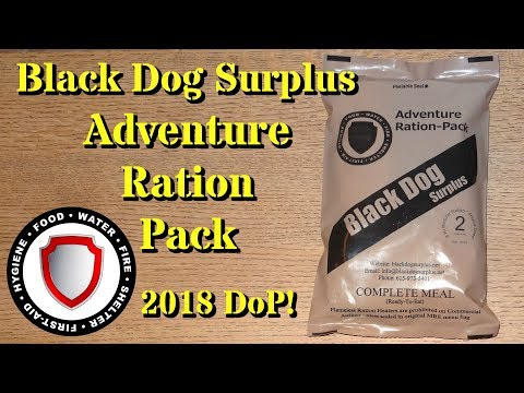 MRE Review: 2018 Black Dog Surplus Adventure Ration Pack -- Menu 2 Chicken and Rice