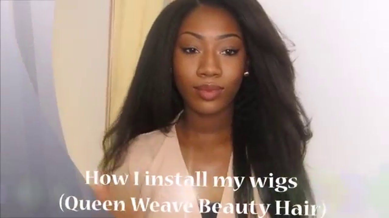 Installing Queen Weave Beauty Hair Coarse Yakikinky Straight
