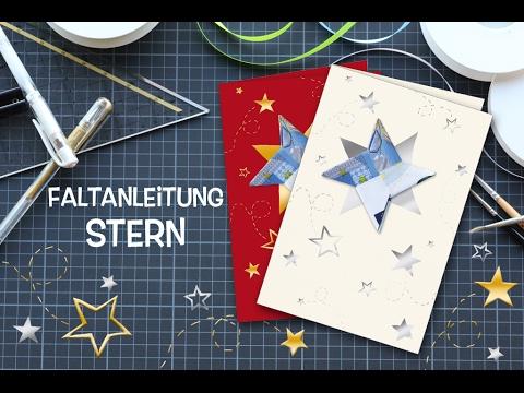 faltanleitung origami stern stern aus einem geldschein. Black Bedroom Furniture Sets. Home Design Ideas