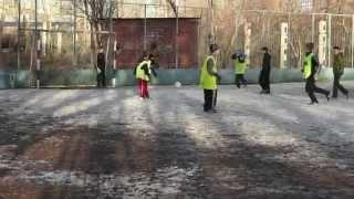 Тренировка по футболу в детском доме - школе СОМЭПК