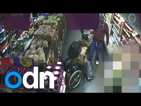 CCTV: Suspected shoplifter gets out of wheelchair to steal food