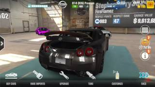 CSR 2 Nissan GTR PRM tune +1000evo points