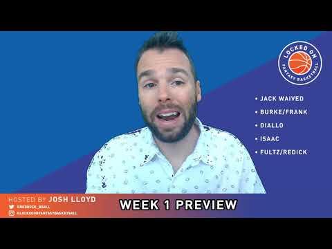 NBA FANTASY | Injury News (John Collins OUT), Rotation News, Week 1 Preview | LO FANTASY BASKETBALL