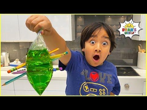 Leak Proof Bag Easy DIY Science Experiment for kids! - Видео онлайн