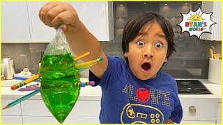 Leak Proof Bag Easy DIY Science Experiment for kids!