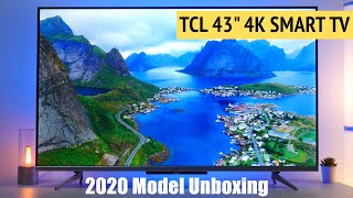 TCL 43 quot AI 4K Ultra HD Smart Android LED TV Unboxing Features Apps