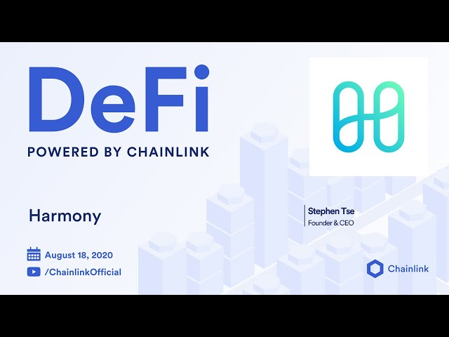 Harmony Live Q&A: 5 seconds with finality using Chainlink Decentralized Oracles