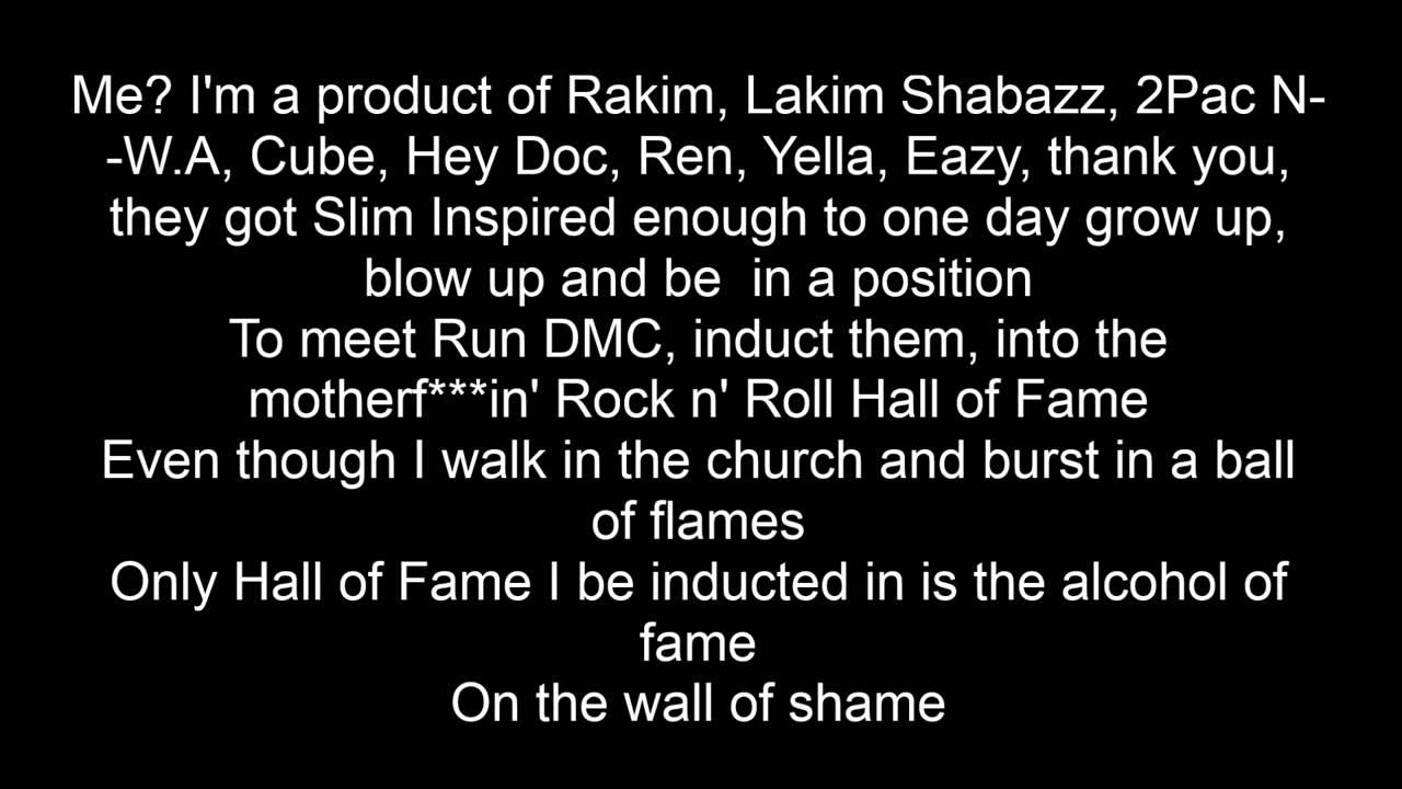 Eminem Rap God Lyrics Clean Edit Youtube