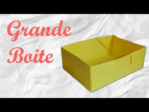Origami : Grande boite en papier.