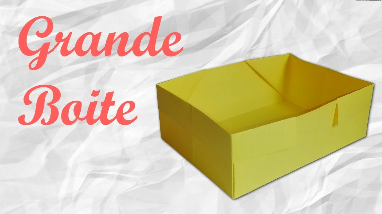 origami grande boite en papier youtube. Black Bedroom Furniture Sets. Home Design Ideas