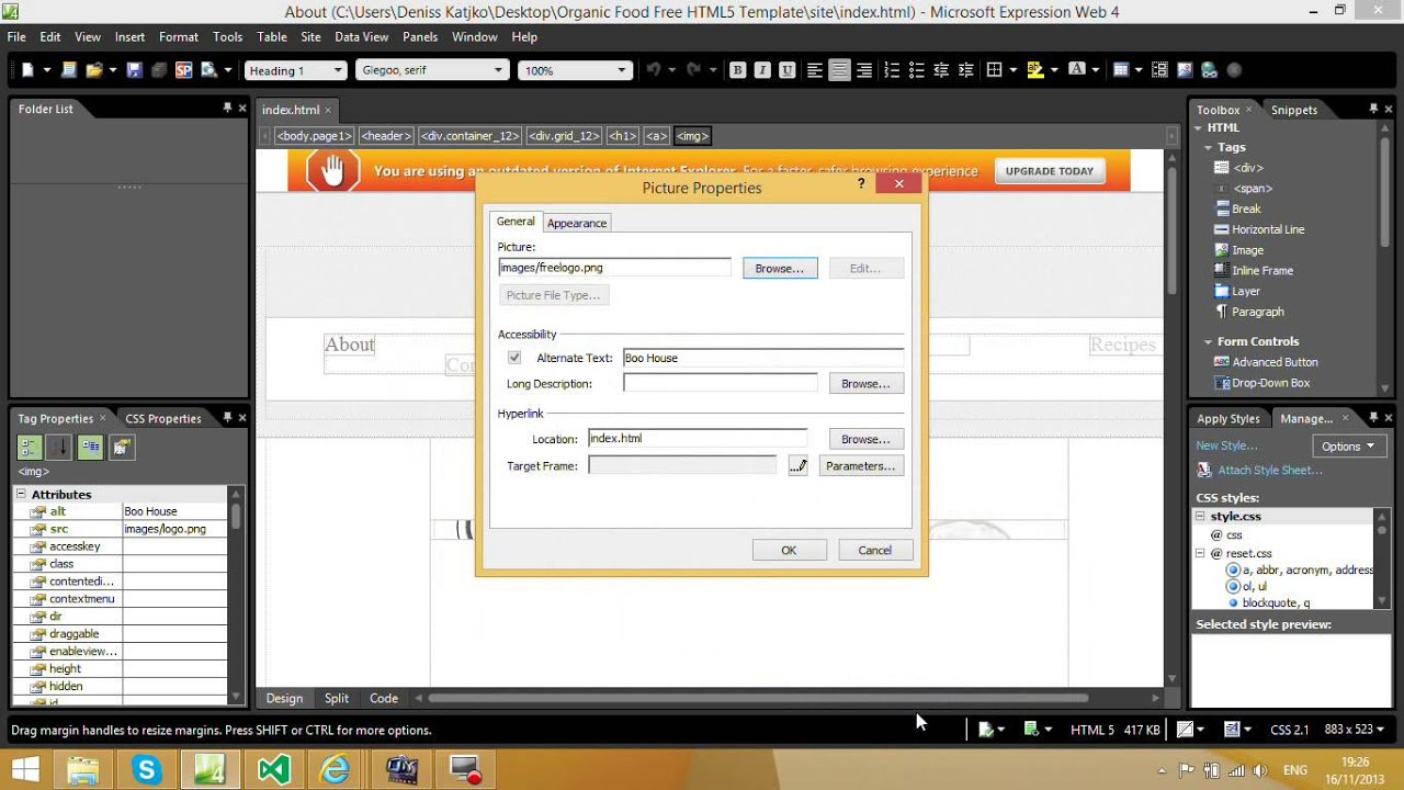 How to edit and publish Free Website Template? - YouTube