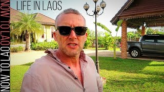 Daily Life in Laos | Our home in Vientiane and Driving the Streets Shopping in Vientiane Laos