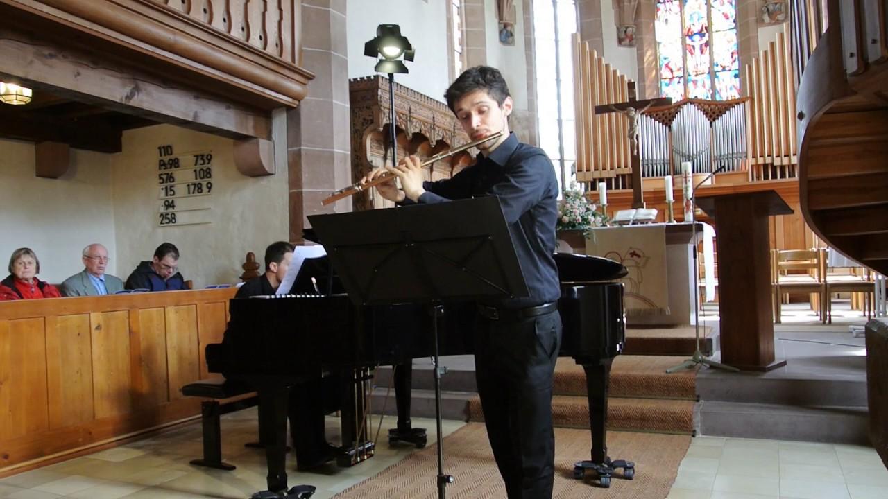 W. A. Mozart, Sonata in E minor KV 304 for flute and piano (or. for violin and piano)