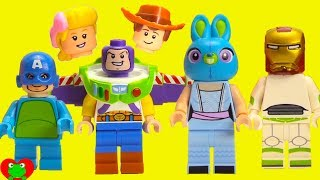 Toy Story 4 Mix and Match Bunny, Woody, Bo Peep, and Buzz Lightyear