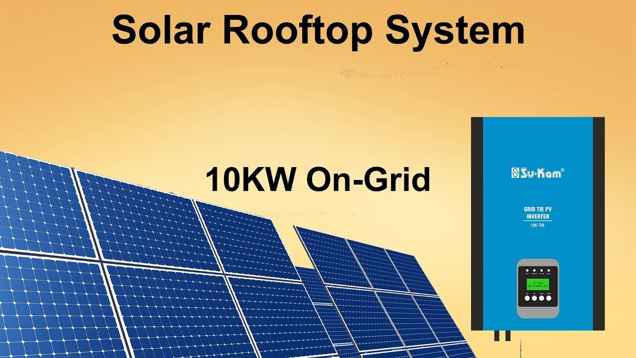 Solar Rooftop System   10kW OnGrid solar system  YouTube