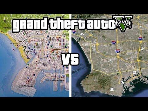 GTA 5 LOS SANTOS VS LOS ANGELES COMPARISON!