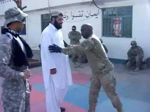 Afghani civil man vs American soldier