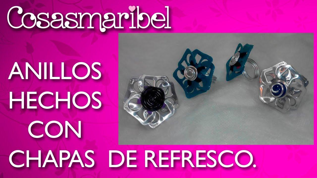 Crea anillos con chapas de latas de refrescos reciclaje youtube - Manualidades con chapas de refrescos ...