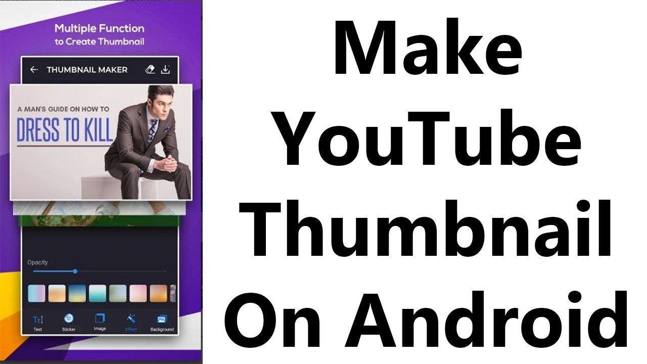 How to make youtube thumbnails on android in Hindi - Best thumbnail maker  app for android