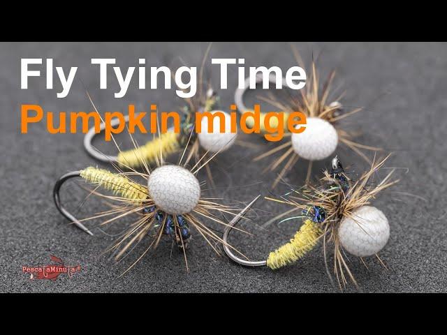 Fly Tying Time - Pumpkin midge