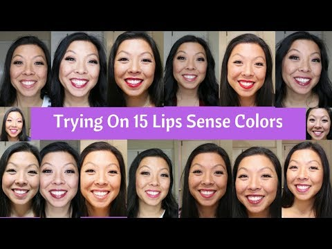 Trying on 15 LipSense Colors | Asian Skin Tone