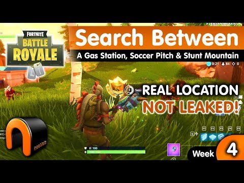 Search Between A Gas Station Soccer Pitch And Stunt Mountain FORTNITE