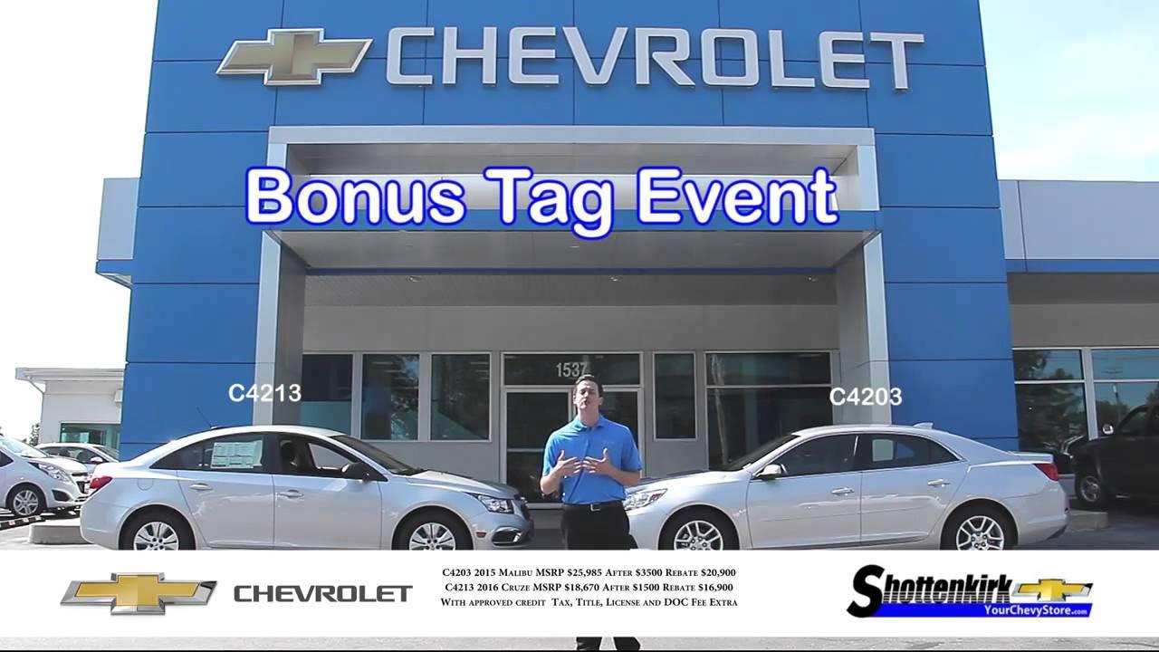 chevy bonus tag shottenkirk chevrolet chevy bonus tag shottenkirk chevrolet