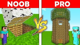 Minecraft Battle - NOOB vs PRO : TREE BASE vs TREE HOUSE in Minecraft ! AVM SHORTS Animation