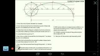 Engineering Drawing: Cycloidal Curve