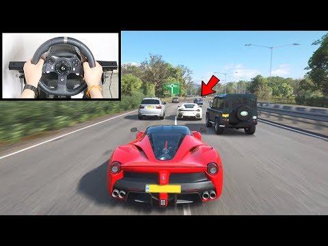Forza Horizon 4 Driving LaFerrari (Steering Wheel + GT Omega Wheel Stand) Gameplay