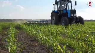 Борона пружинная БПШ по всходам кукурузы