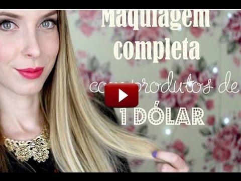 Tutorial Maquiagem Completa SÓ com Produtos de US$1