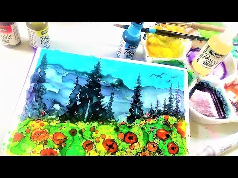 Alcohol Ink on YUPO Landscape // March Smart Art Box Play!