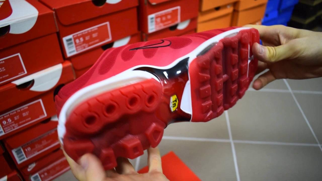 Nike Air Max TN Plus red обзор кроссовки мужские найк аир макс тн плюс  красные 171ddaab33fd4