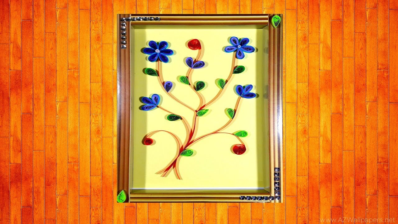 How to make paper quilling wall frames - Quilling tutorials ...