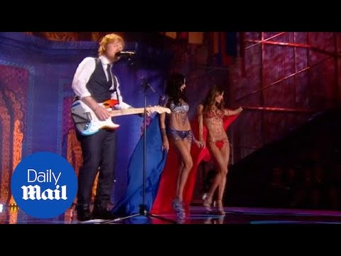 Taylor Swift and Ed Sheeran light up Victoria's Secret show - Daily Mail