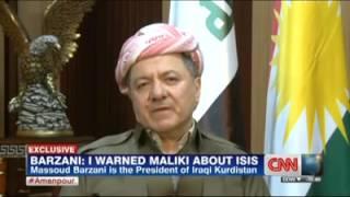CNN- Amanpour #Iraq BARZANI INTERVIEW 6/23/2014