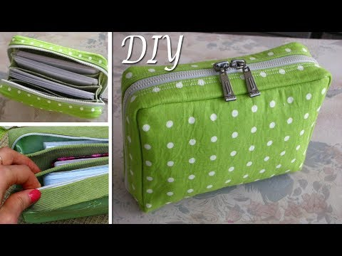 DIY Zipper Pouch Bag Tutorial • DIY BAG VIDEO TUTORIAL