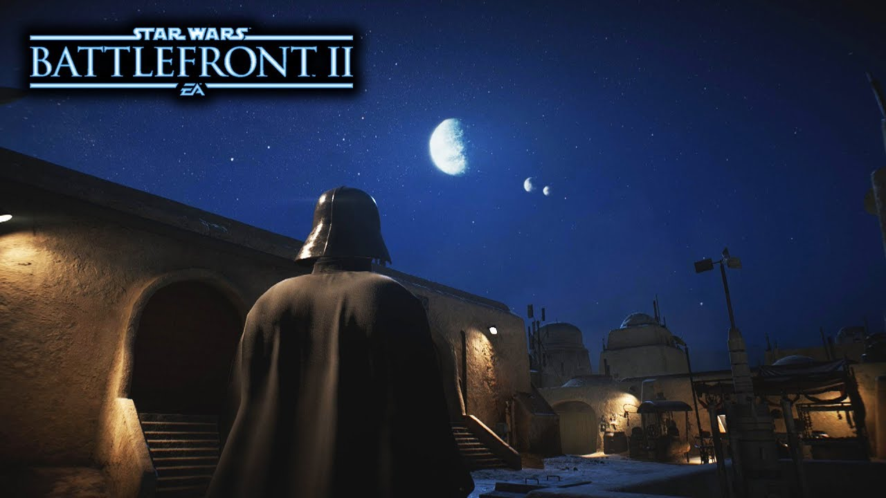 Star Wars Battlefront 2 New Night Map Gameplay On Mos Eisley With
